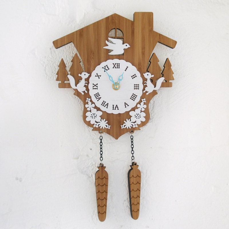 Cuckoo Clock - Modern woodland Style A - decoylab