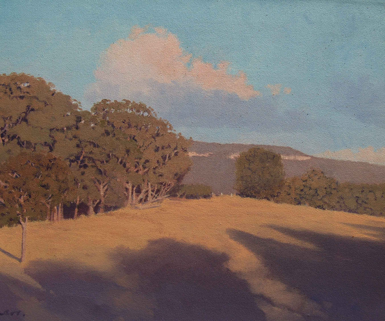 Early Morning Shadows      An original Australian landscape oil painting - StevenHeyenArt