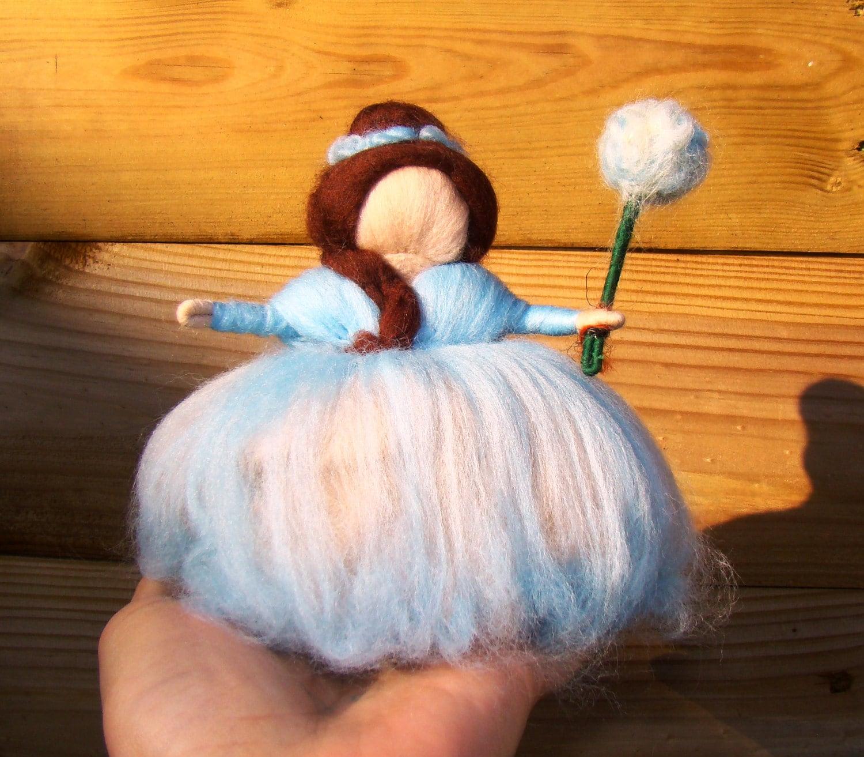Waldorf puppets felt Waldorf angel blue pixie guardian angel baby blue fairy blue elf blue flower doll Waldorf story puppe elf kendal