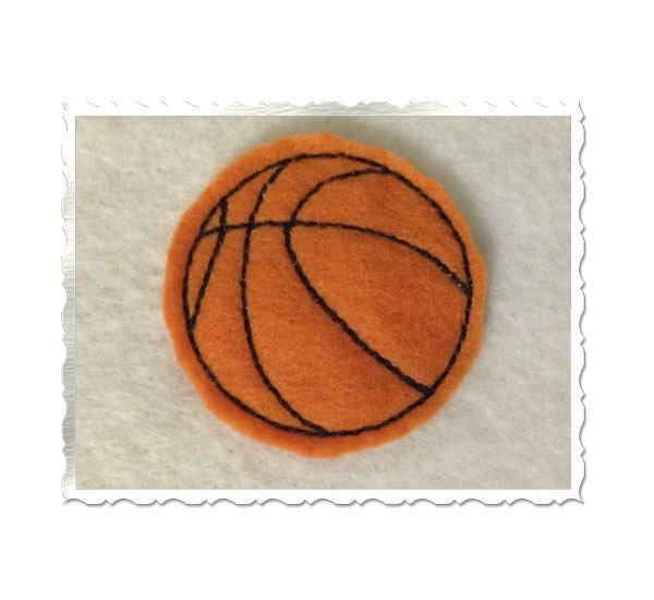 Basketball feltie machine embroidery design by