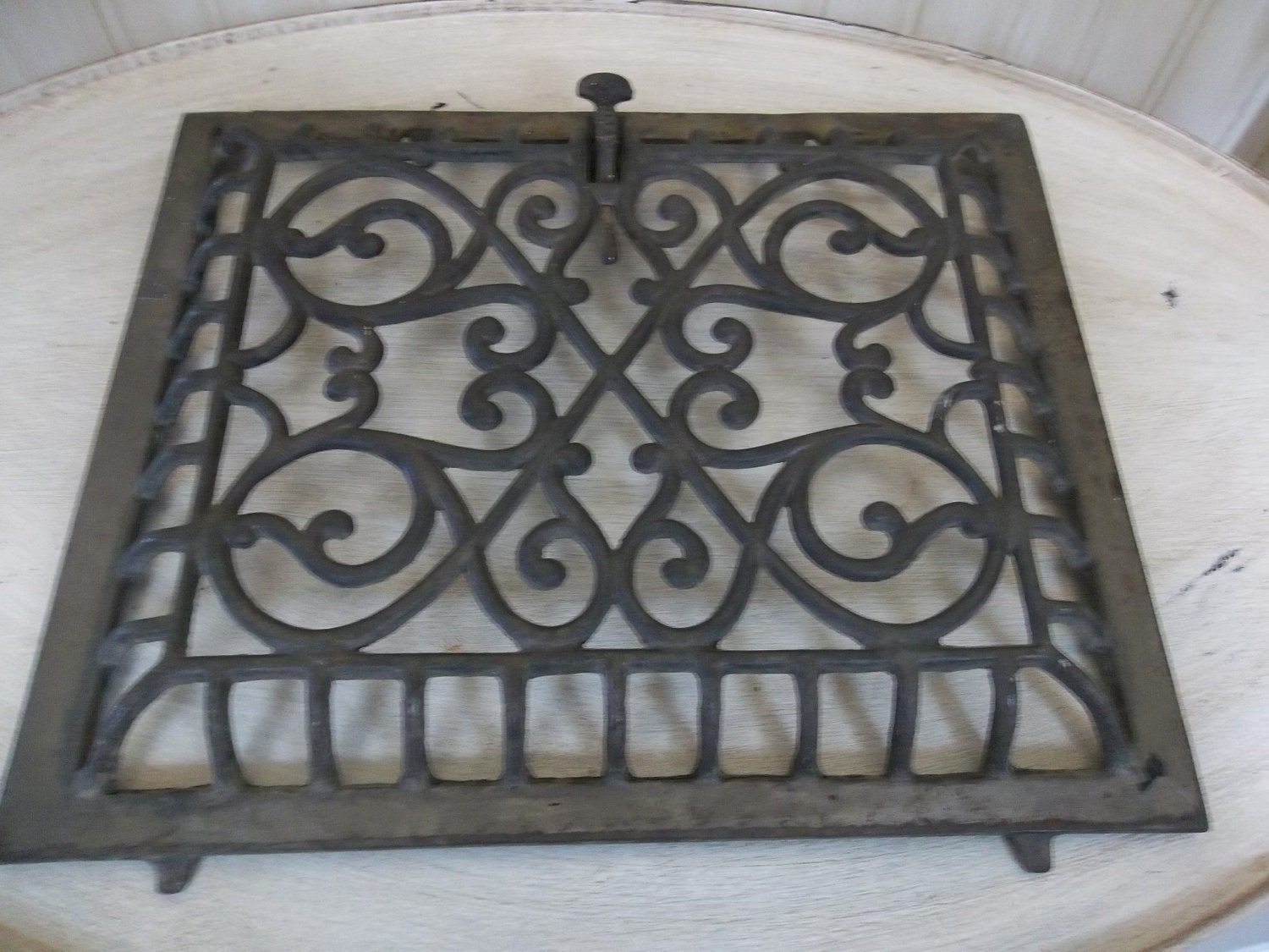 Antique Floor Furnace Grate Or Wall Heater Cover By