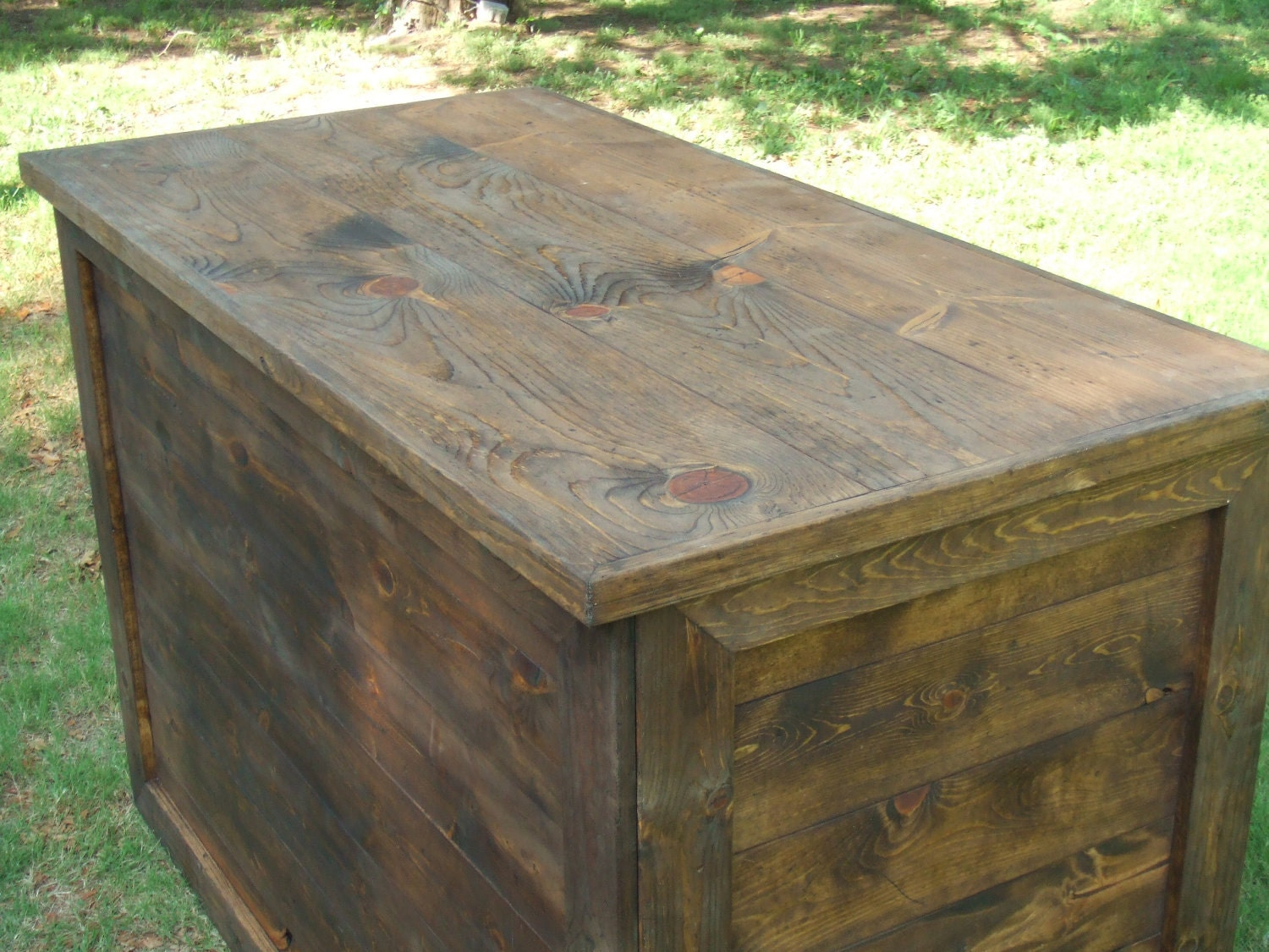Rustic custom table - farmhouse furniture - portable for display booth - BlackCatHill