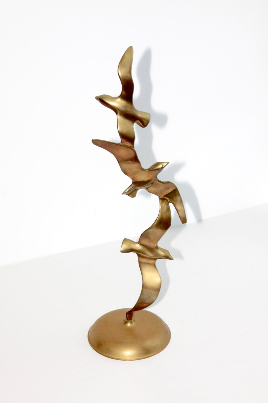 Retro Brass Seagull Sculpture made by Penco - Fleaosophy