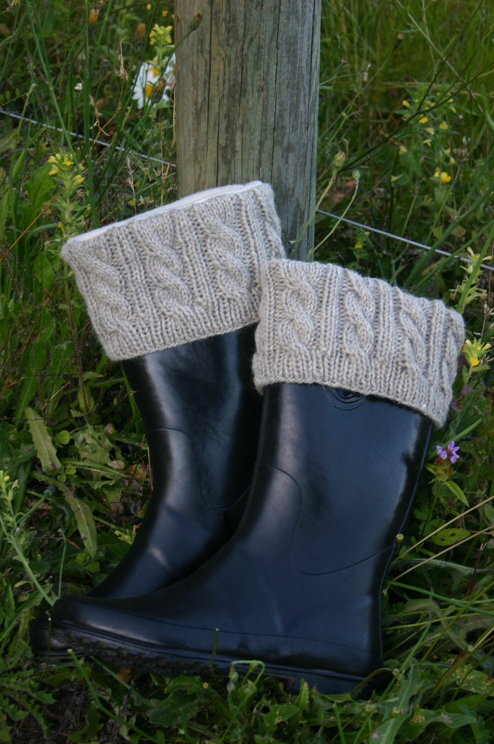 Knitted Boot Cuffs Pattern Only by VintageofNow on Etsy