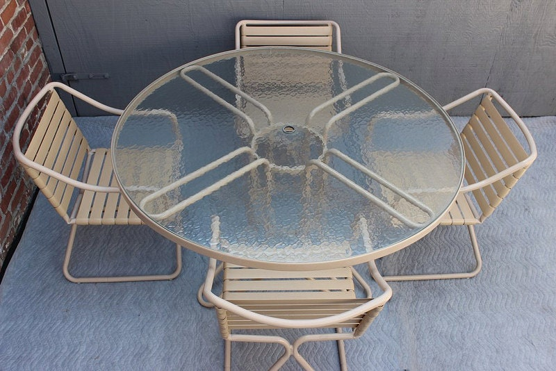 Mid Century Modern Patio Furniture Set by Brown by DejaVuLB
