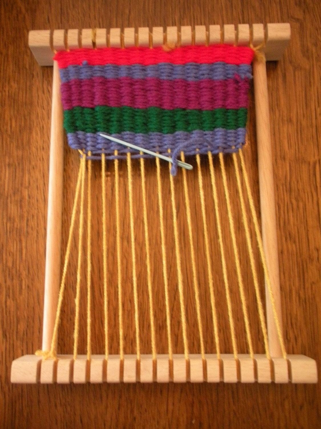 Small Wooden Weaving Loom For A Child By Wheretheroostercrows