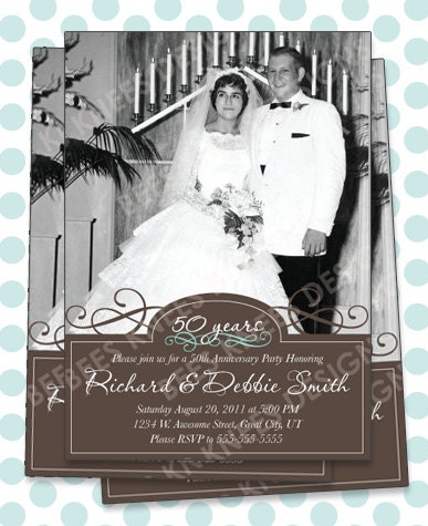 25th 50th Wedding Anniversary Invitation Will work for any anniversary ...