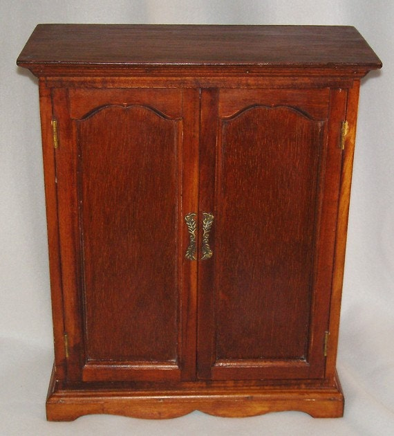 Vintage wood doll armoire wardrobe by specialfriendsbyjudy