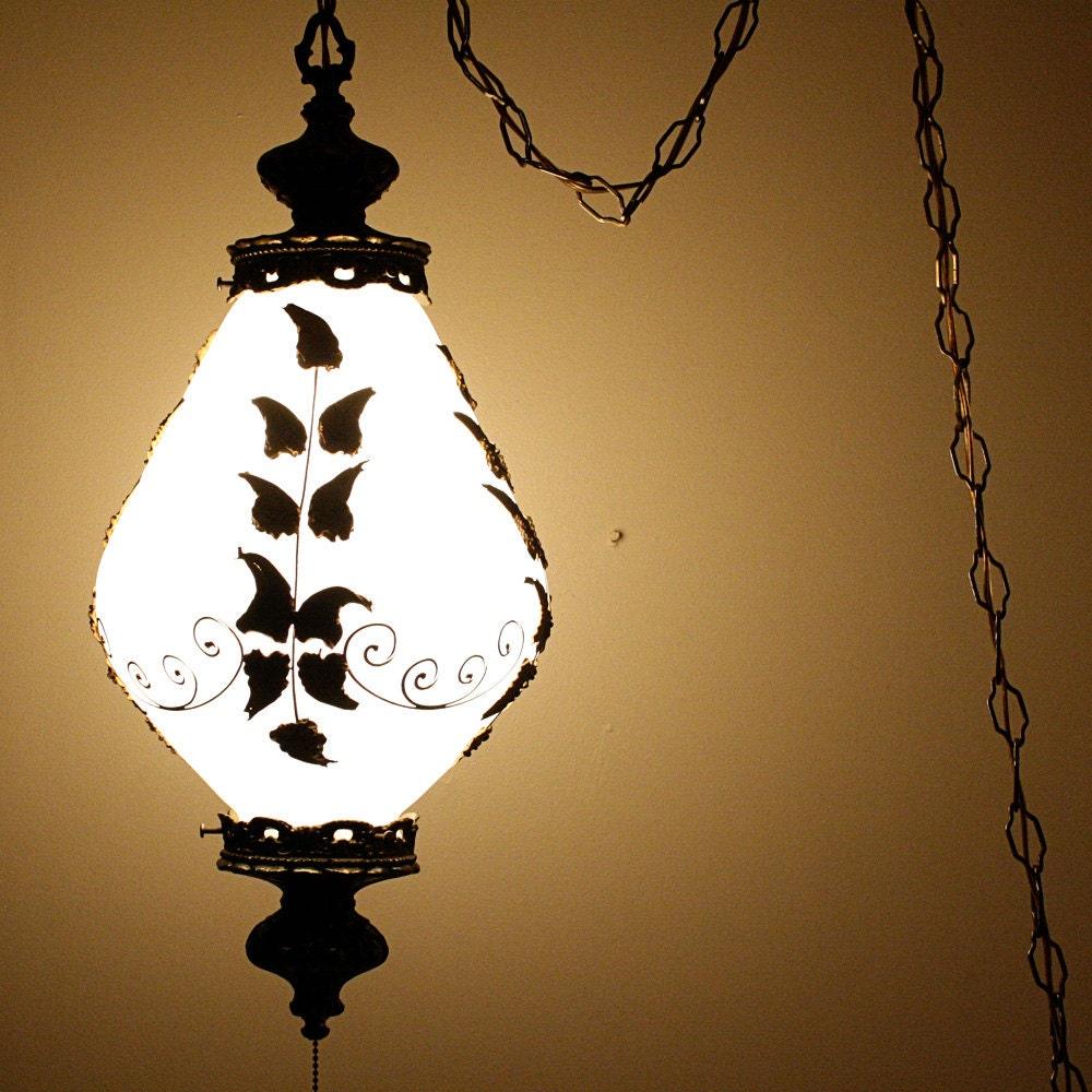 Vintage Hanging Light Hanging Lamp Swag Lamp By Oldcottonwood
