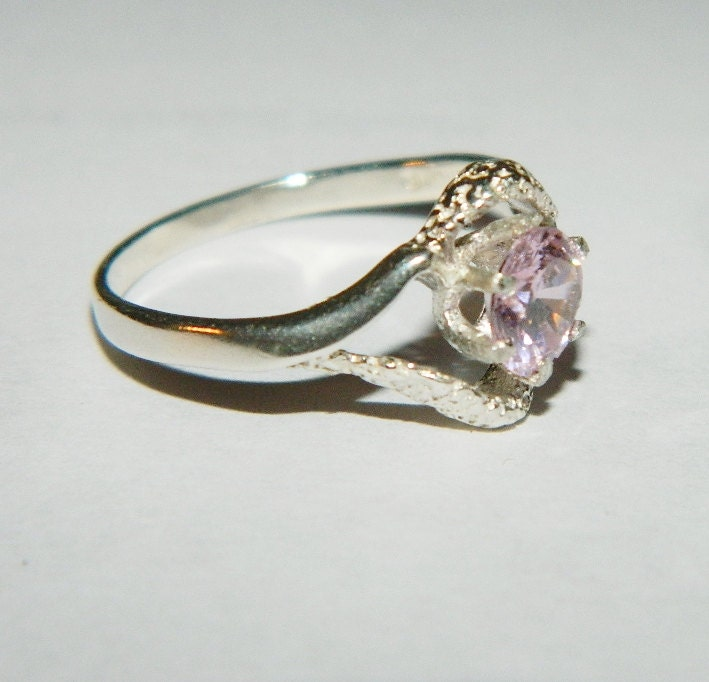 purity promise birthstone ring pink cubic by