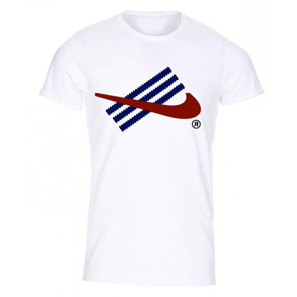 Fun Adidas and Nike Inspired TShirt White  Birthday Gift Present