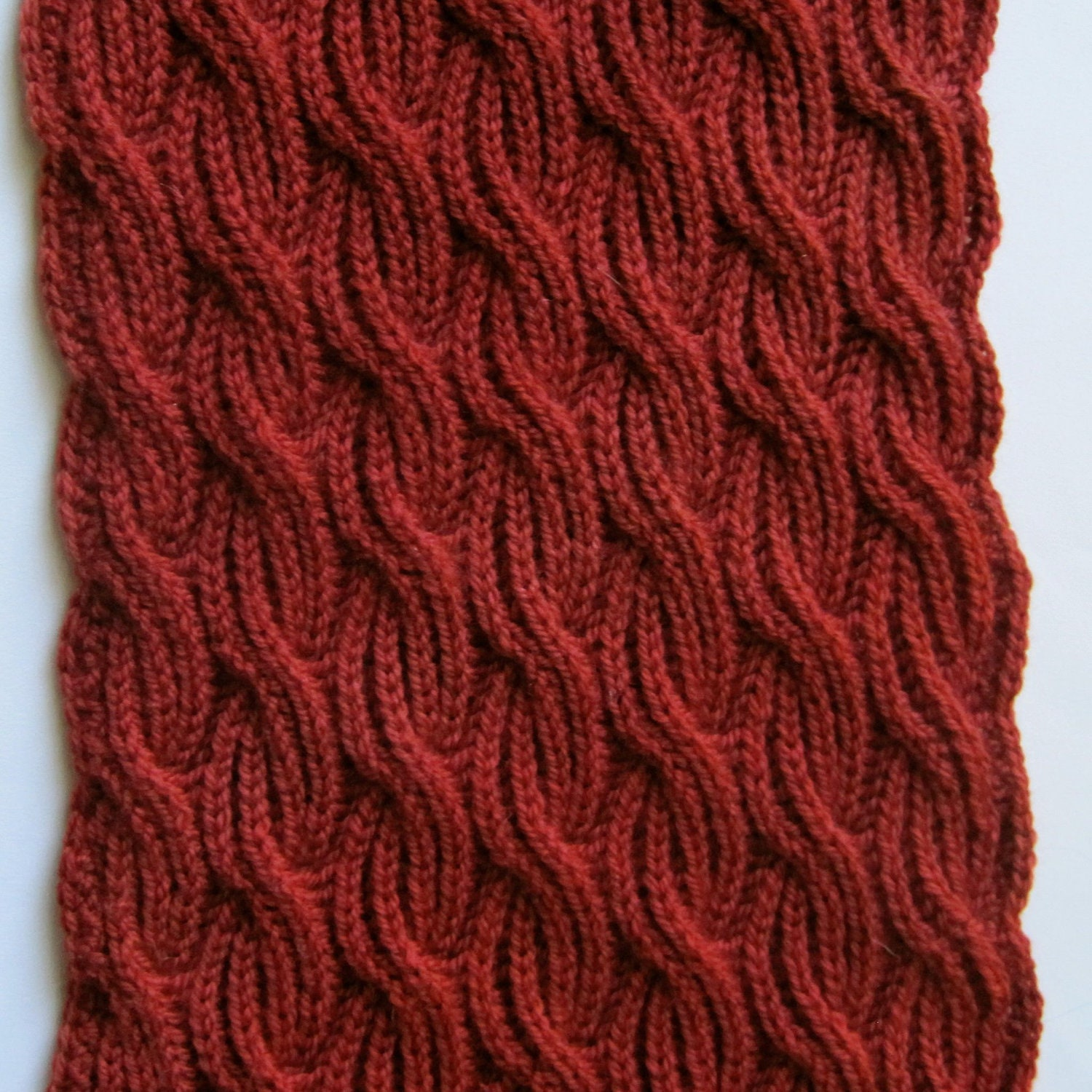 Knit Scarf Pattern: Brioche Cabled by WearableArtEmporium on Etsy