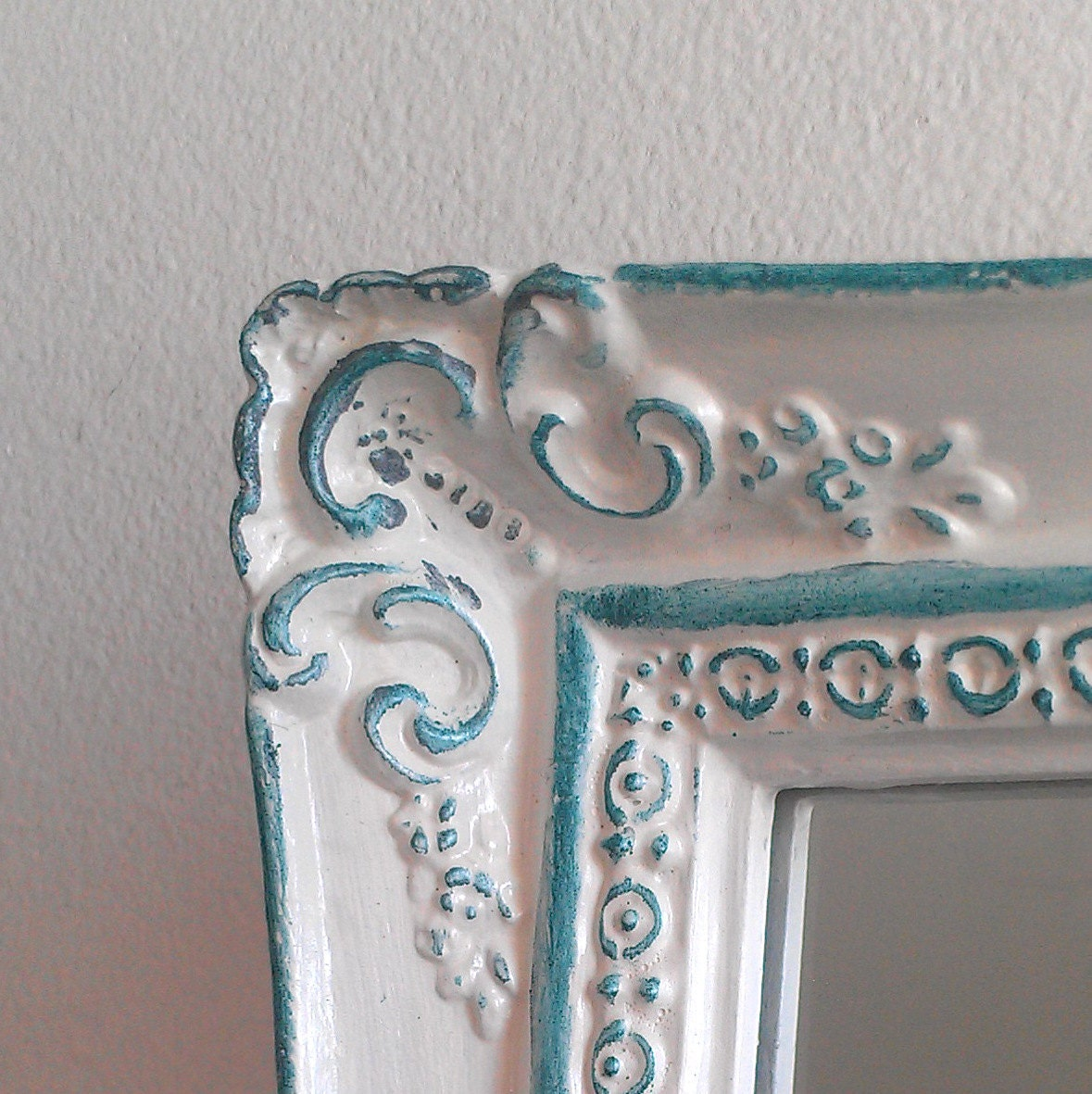 Baroque wall mirror in small vintage frame by for Small baroque mirror