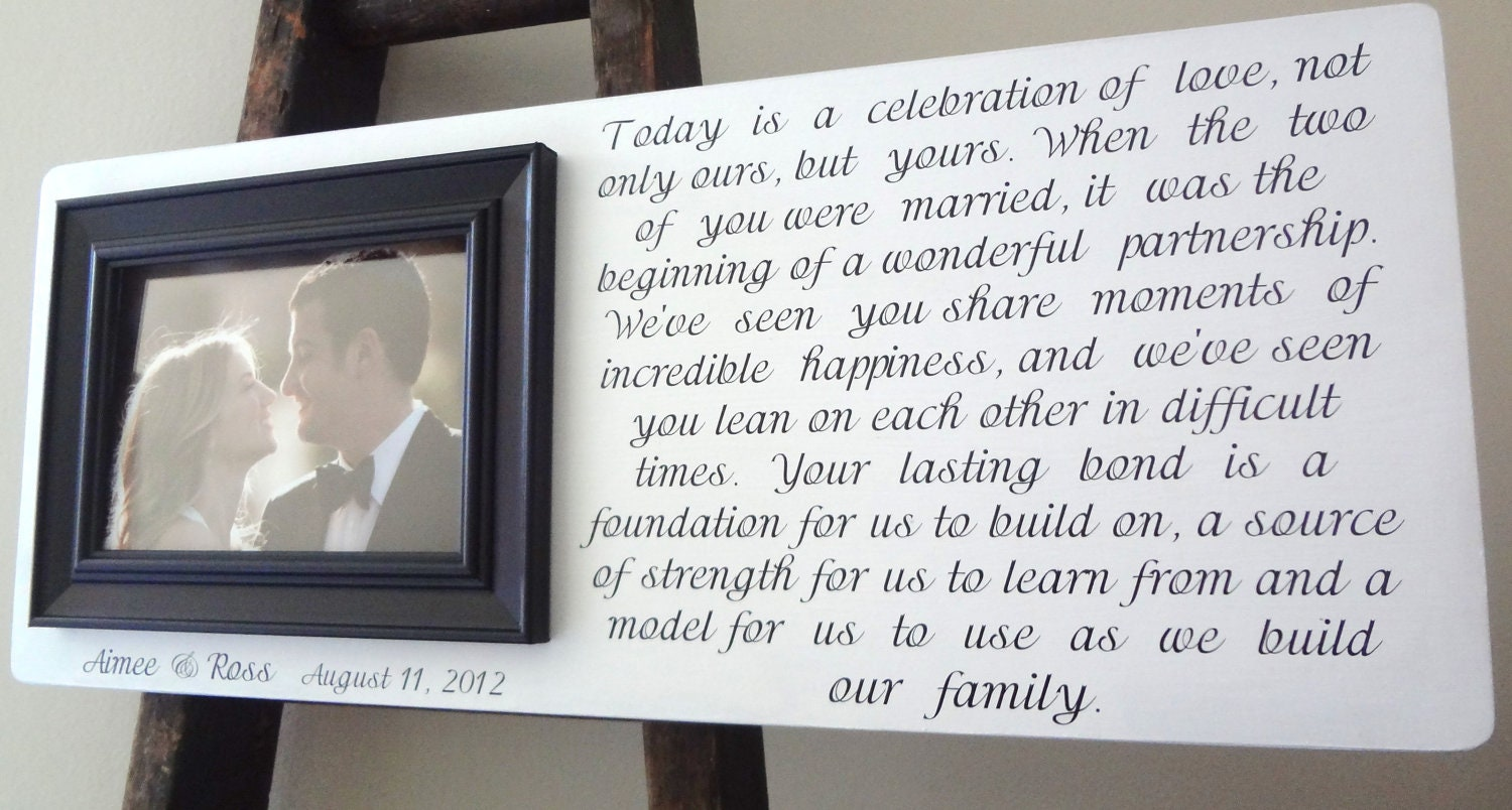 Wedding Gifts For Parents And Grandparents : Wedding Frame Personalized Parents of the Bride & Groom Grandparents ...
