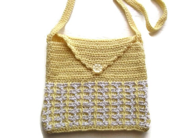 Mini Crochet Bag : Crochet Shoulder Purse Mini Bag. Purse. Pouch. OOAK by Crochet50