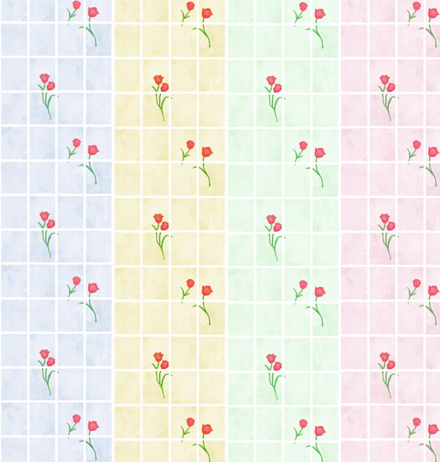Dolls House Wallpaper 112th or 124th scale Choice of Blue Pink Green Cream Bathroom  Kitchen