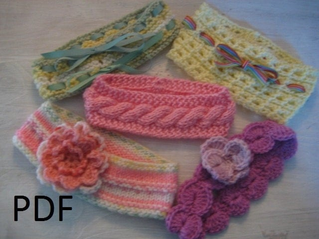 Knitting Patterns For Beginners Headband : Unavailable Listing on Etsy