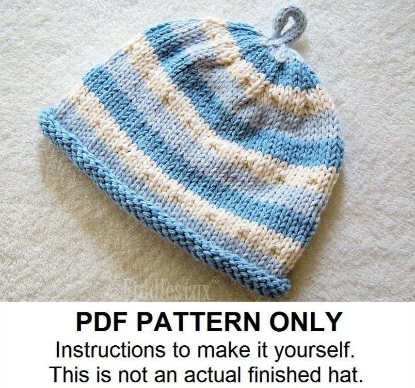 Baby Boy Knitted Hats Pattern : Popular items for knit hat pattern on Etsy