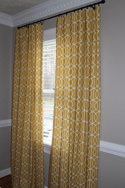 Custom curtain panels