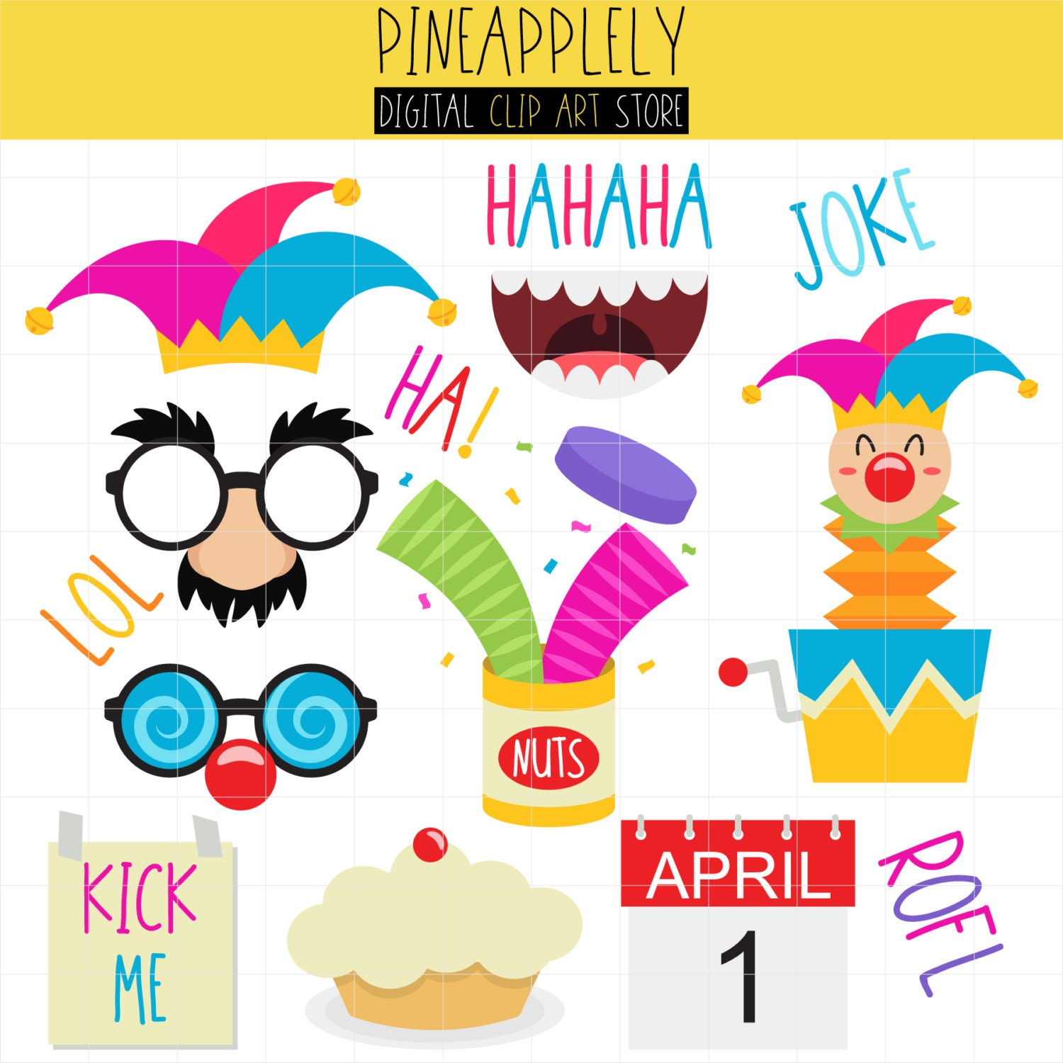 Month of april clip art