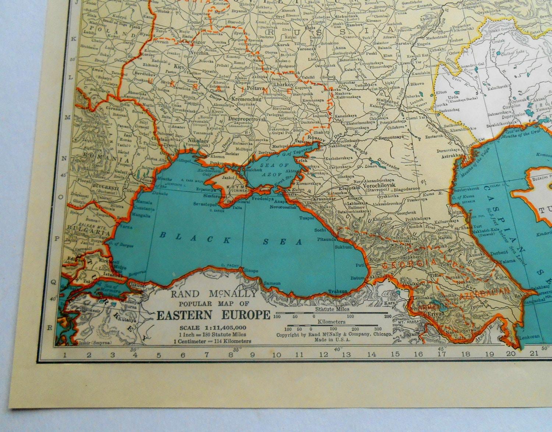 Soviet Union Asia 1939 Vintage Atlas Map