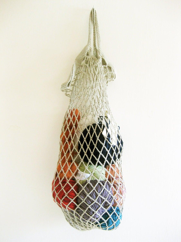 Crochet Vegetable Bag Pattern : Items similar to Crochet mesh string bag / market bag ...