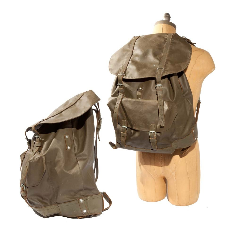 Vintage Swiss All Weather Backpack Rucksack By Nashdrygoods