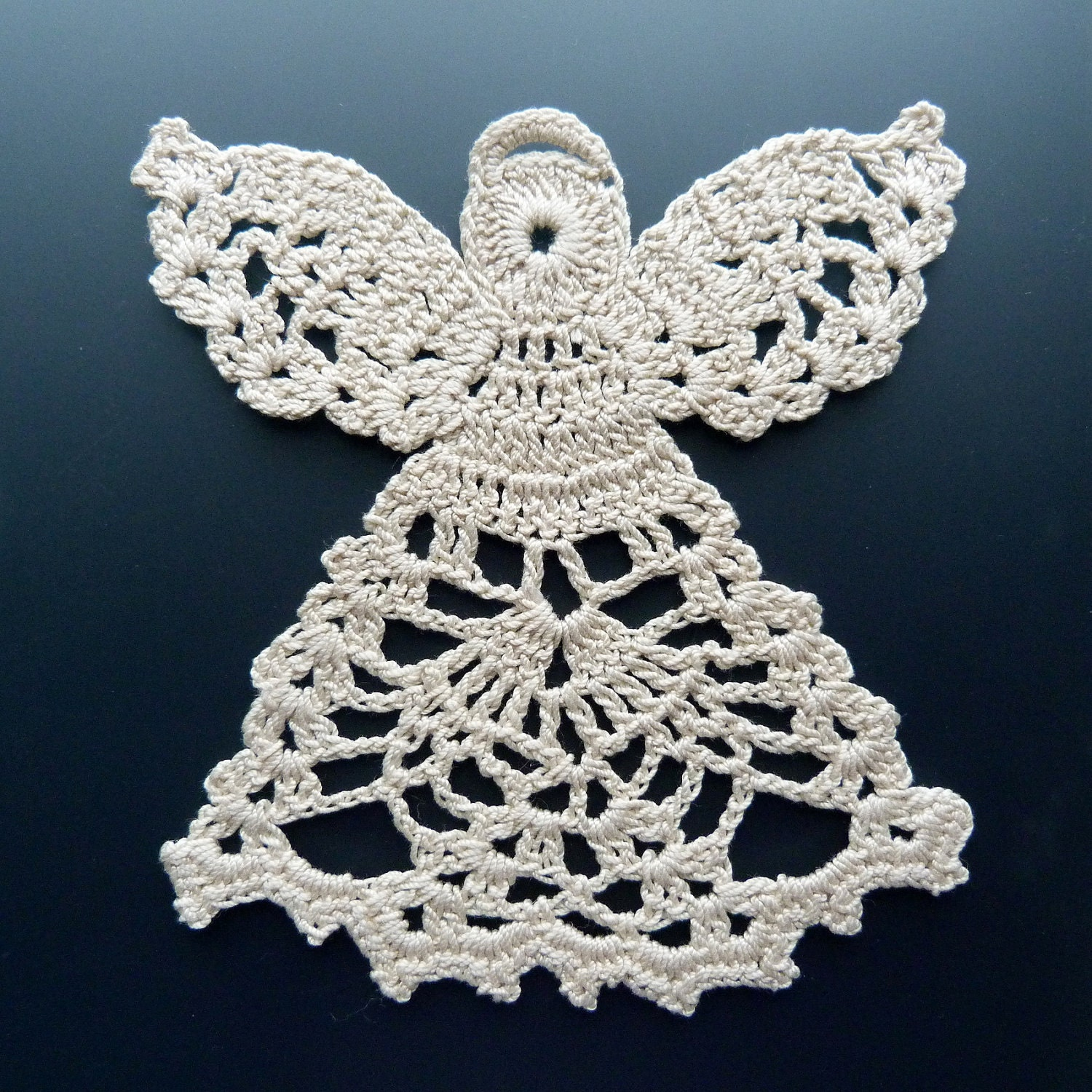 Crocheted Doily - Angel in Lace