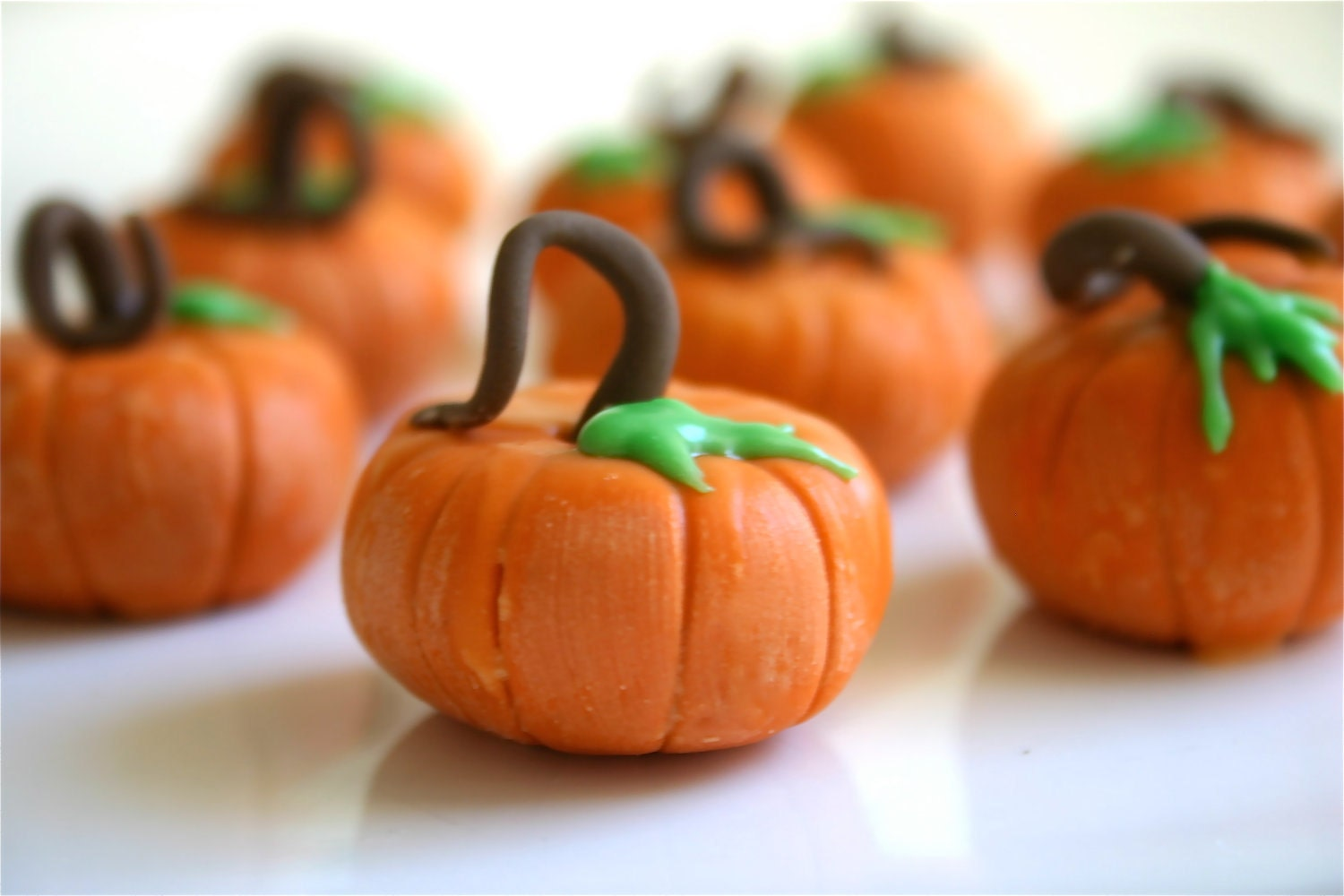 Edible Chocolate Filled Candy Pumpkins For Favors 100 count