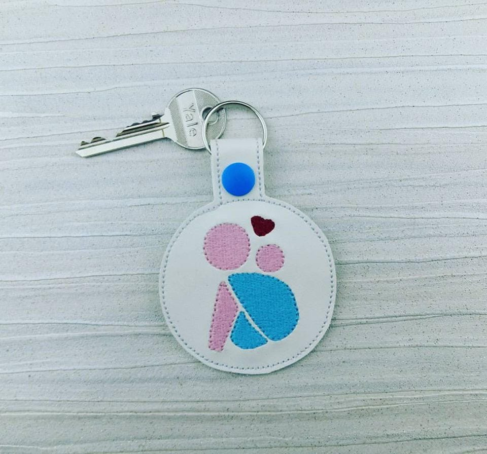 Baby Wearing Keychain  Baby Keyring  Baby Carrier  Mum and Baby  Baby  Mom  Baby Wrap Fob  Gift for Mum  Baby Shower Gift  Keys