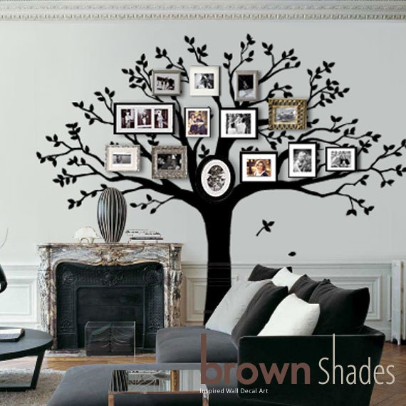 family tree wall decal tree wall decal by brownshades on. Black Bedroom Furniture Sets. Home Design Ideas