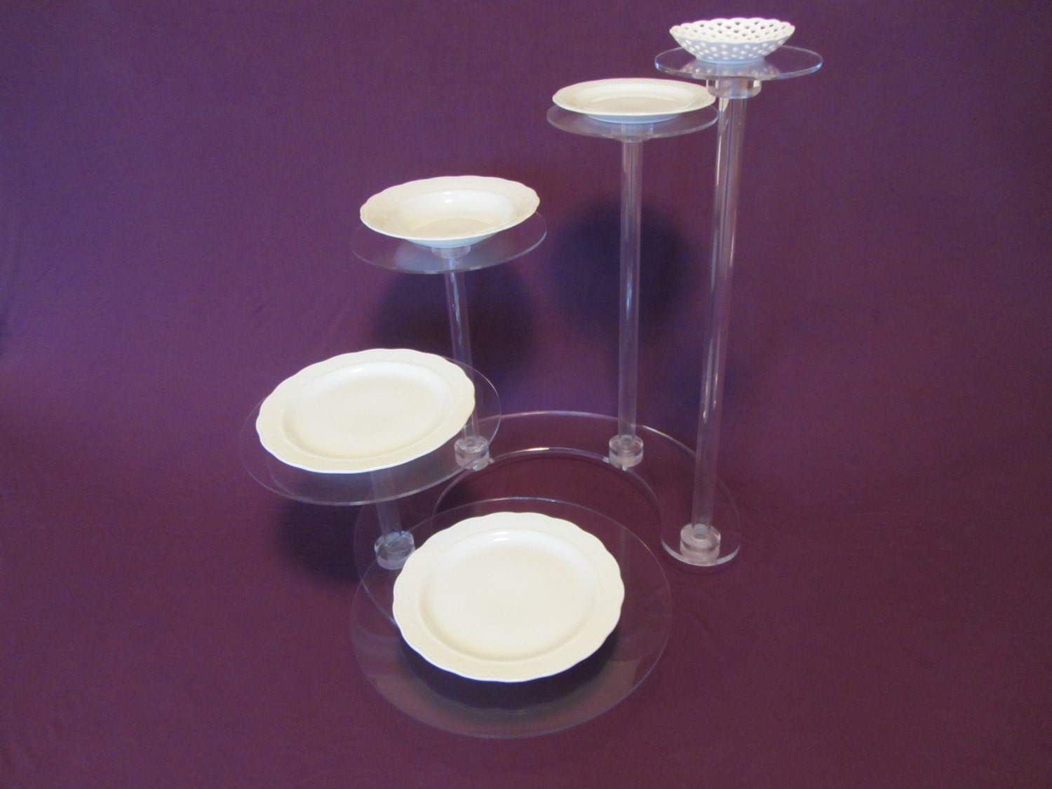 Lucite Wedding Cake Stands