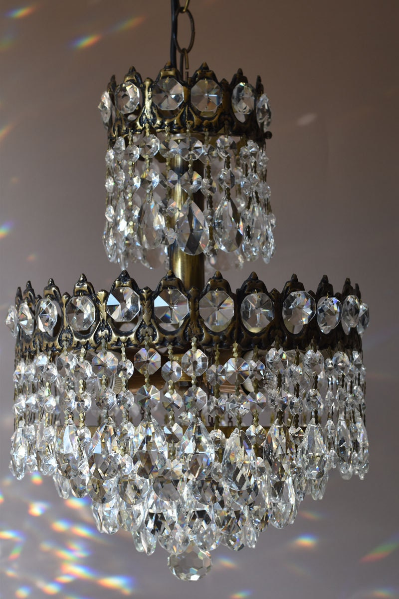 Chic Shabby Luxury Foyer Lighting Home Living Antique Pendant French Vintage Glass Crystal Chandelier Lamp Lighting Ceiling Old Fixture