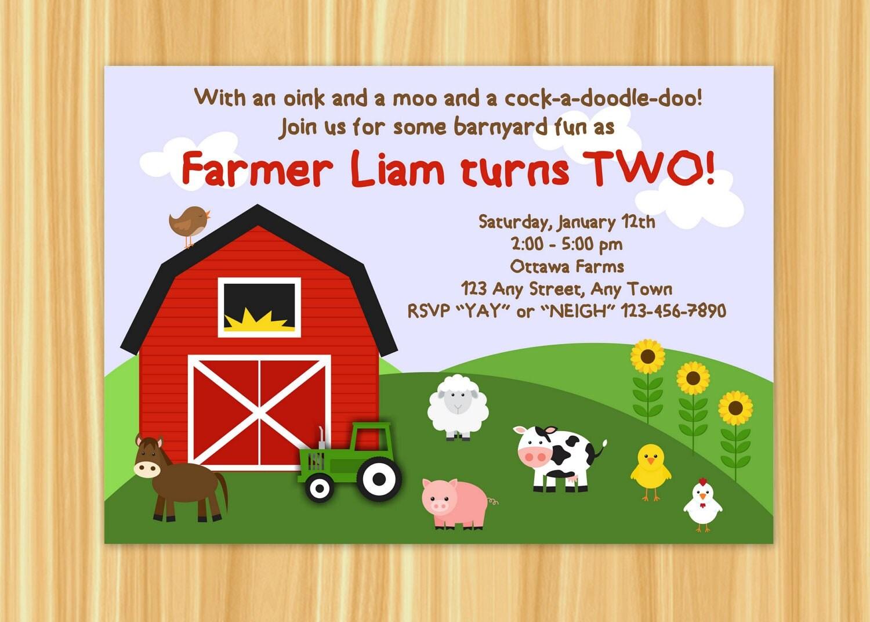 Farmyard Birthday Invitations as good invitation template