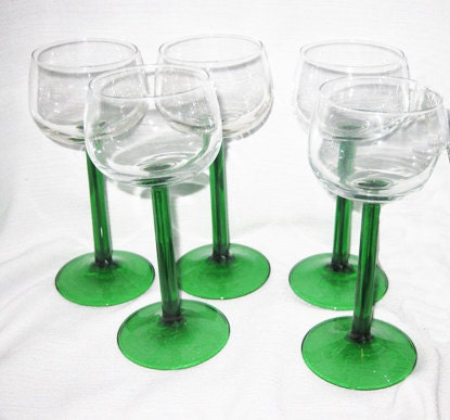 Unavailable listing on etsy - Wine glasses with thick stems ...