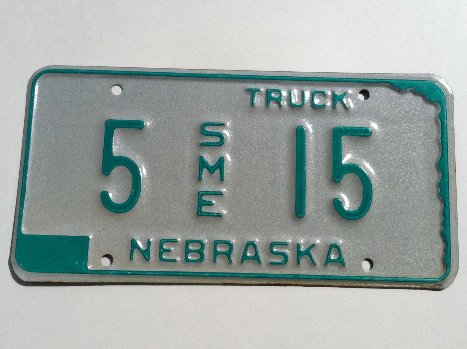 Nebraska License Plate Vintage/Upcycling Supply - SME/Truck Plate - IdleHandsYarnSupply