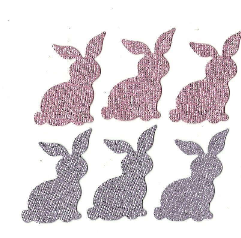 Lot of 6 Cottage Cutz Easter Bunny #2 Die Cuts