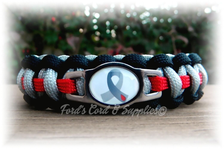 diabetes awareness paracord bracelet by fordscordandsupplies
