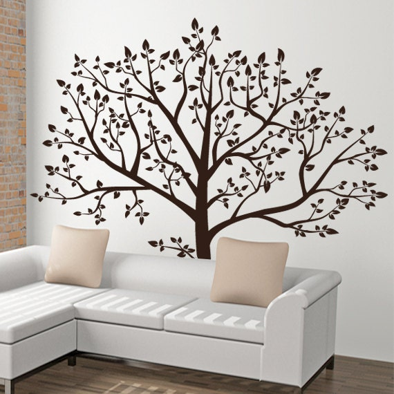Nature wall decal tree decal family tree wall by arthomedecals for Stickers para habitaciones juveniles