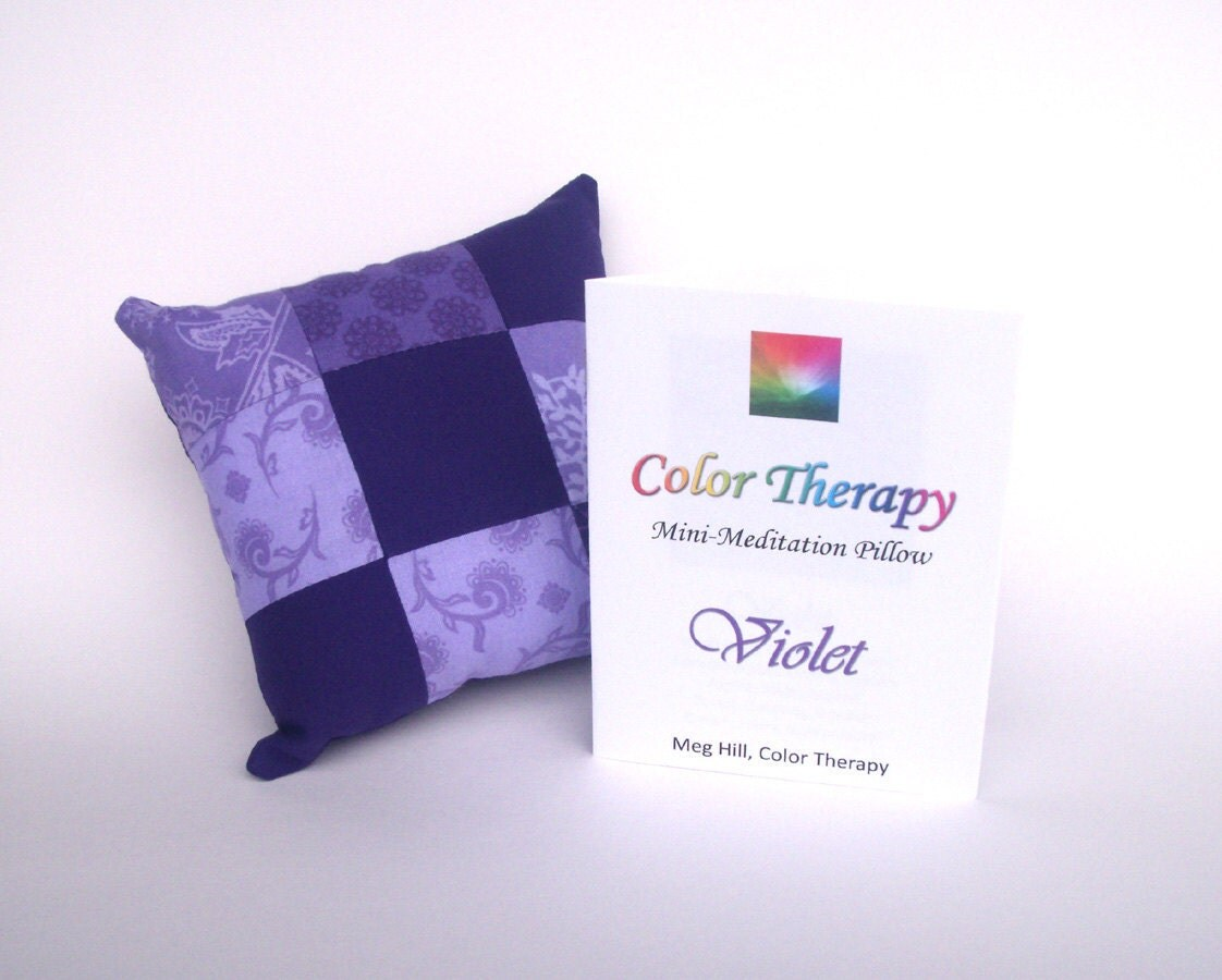Color Therapy Mini-Meditation Pillow - Violet - MHDBoutique