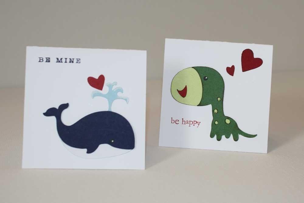 EtsyGreetings Handmade Cards Animal Valentine Mini Notecards – Animal Valentine Cards
