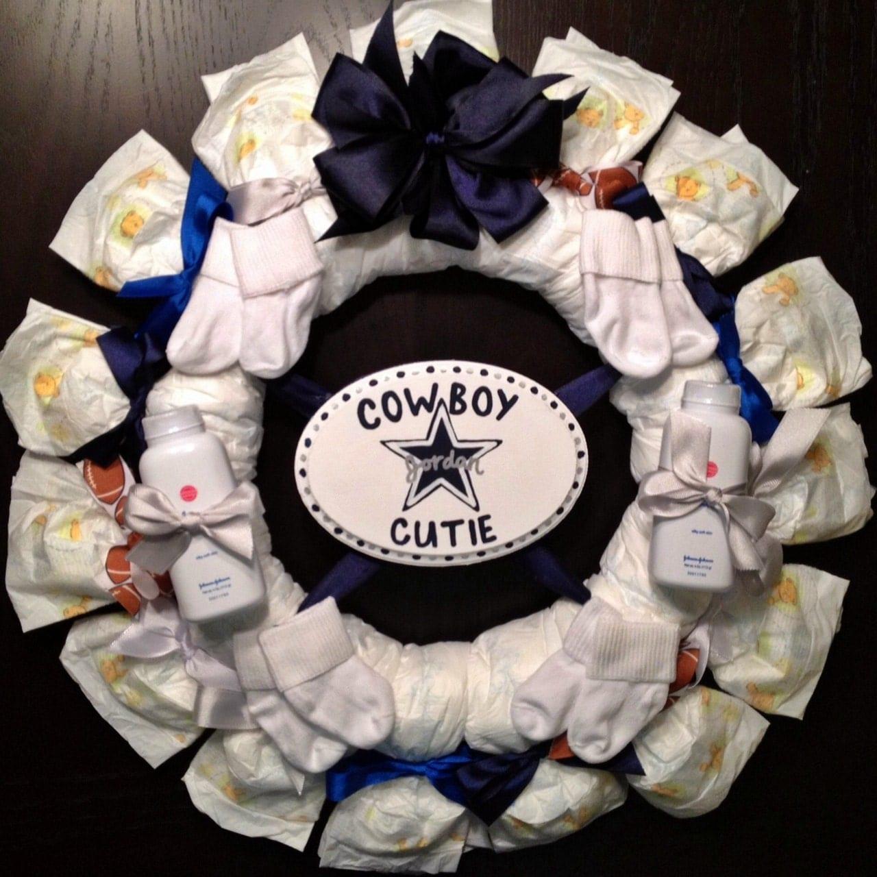 baby shower gift decoration boy girl unisex football cowboy cutie on
