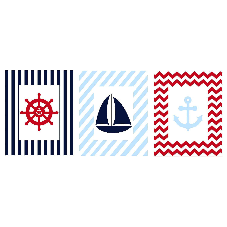 Nautical Prints... Light Blue Anchor Wallpaper