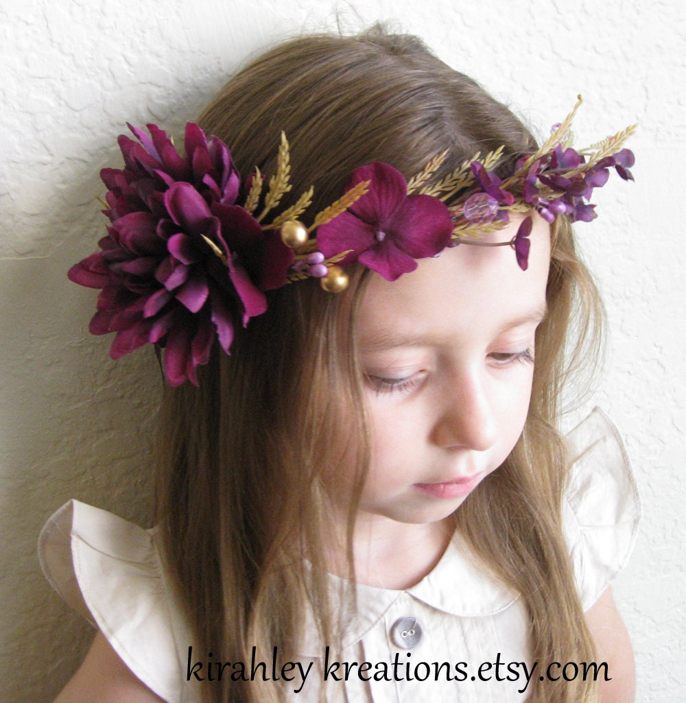 Flower Girl Headpieces: LALA Rustic Country Flower Girl Headpiece By KirahleyKreations