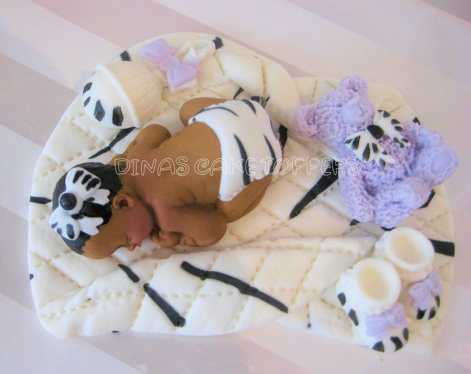items similar to zebra lavender print cake topper baby shower first