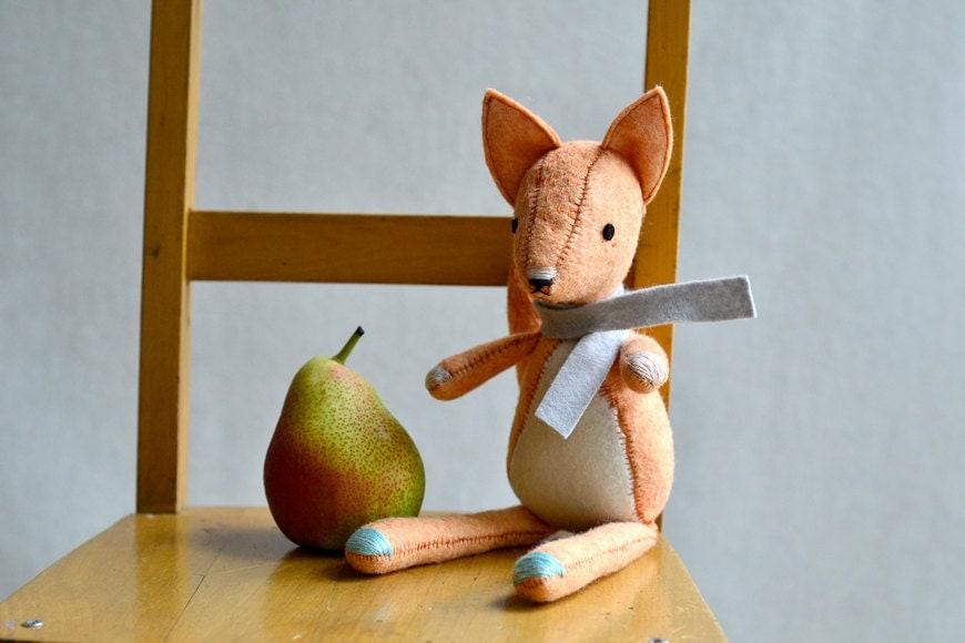 fox doll - soft toy animal