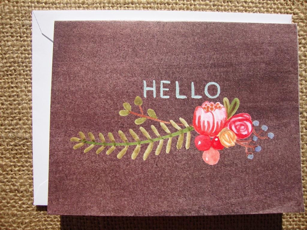 Flowery Hello (set of 6)