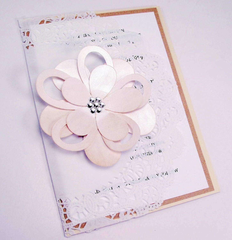 Items Similar To Elegant Lace Doily Wedding Invitation