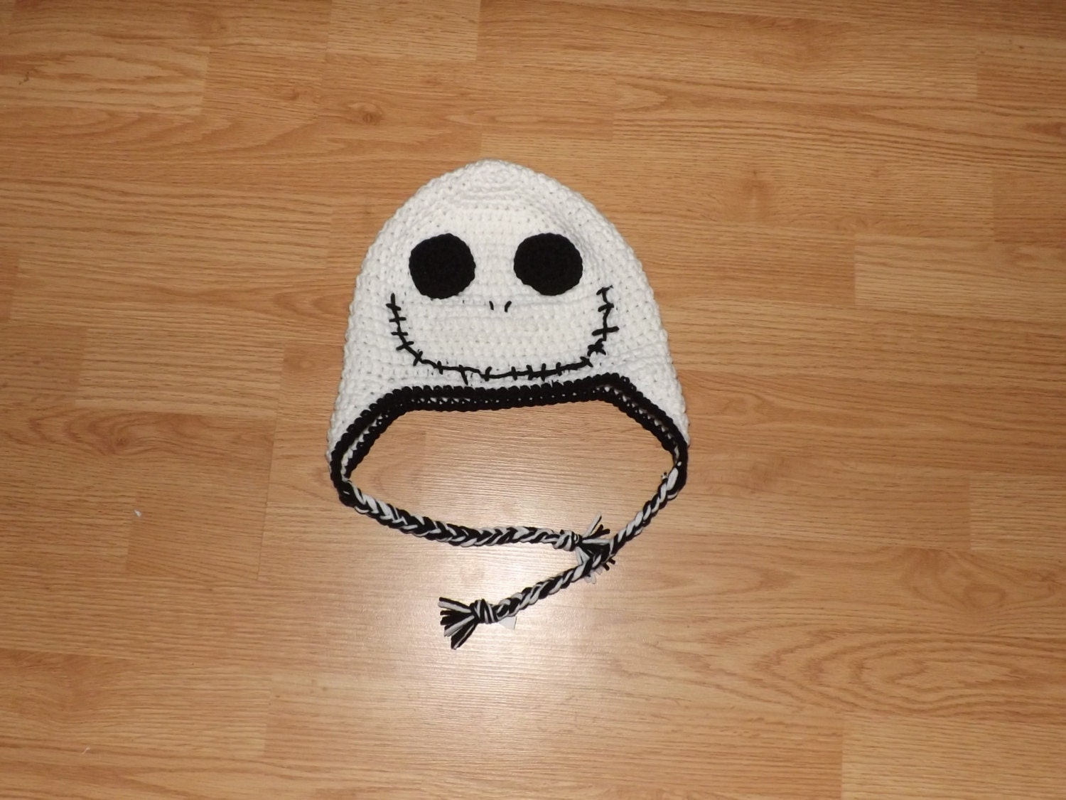 Crochet Pattern For Jack Skellington Hat : Jack Skellington Crochet Hat by TheAnxiousHooker on Etsy