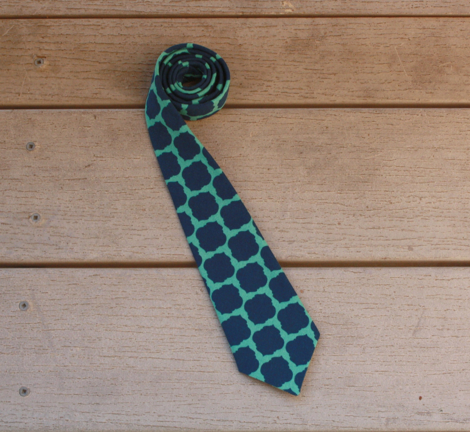 Toddler Necktie, Navy and Teal